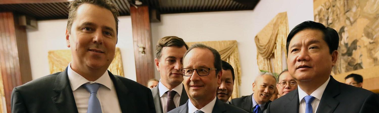 Alexandre Zapolsky rencontrant le Président François Hollande