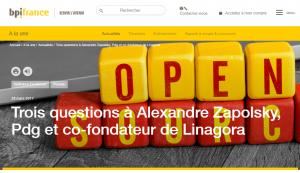 BPI France : Trois questions à Alexandre Zapolsky, PDG et co-fondateur de LINAGORA