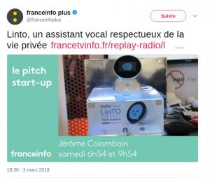 LinTO vu par Jérôme Colombain