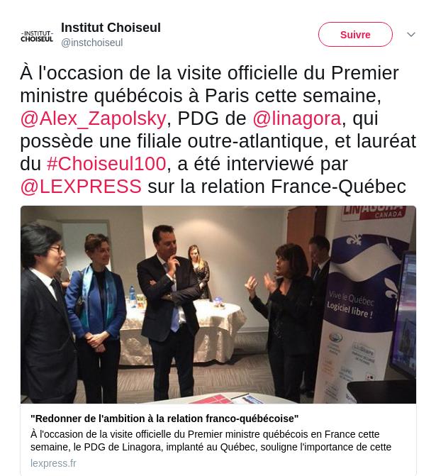 Mon interview pour L'Express : pourquoi il faut redonner de l'ambition à la relation franco-québécoise
