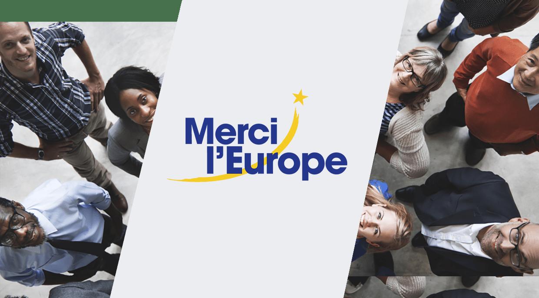 «Merci l'Europe» Campagne du MEDEF